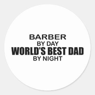 Le meilleur papa du monde - coiffeur adhésifs ronds