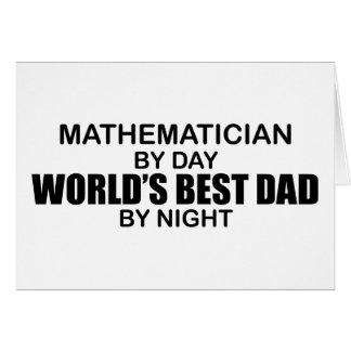 Le meilleur papa du monde - mathématicien cartes