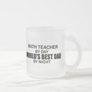 Le meilleur papa du monde - professeur de maths mug en verre givré