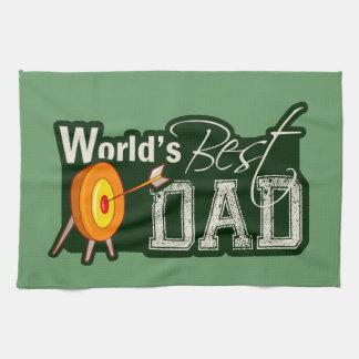 Le meilleur papa du monde ; Tir à l'arc Serviette Pour Les Mains