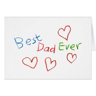Le meilleur papa jamais cartes