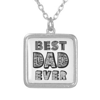 Le meilleur papa jamais pendentif carré