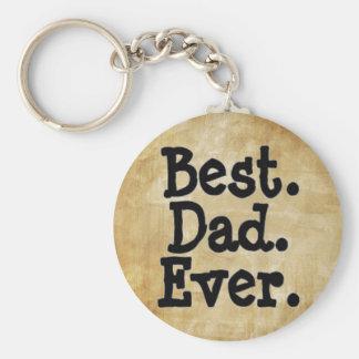Le meilleur papa jamais porte-clé rond