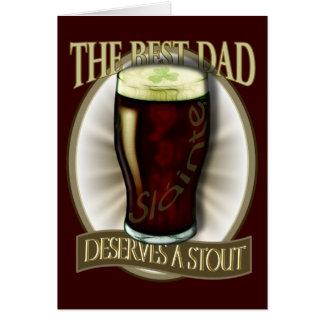Le meilleur papa mérite une bière de malt cartes