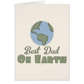 Le meilleur papa sur la carte de voeux de la terre