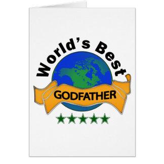 Le meilleur parrain du monde carte de vœux
