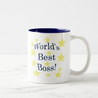 Le meilleur patron des mondes tasse 2 couleurs