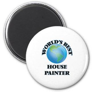 Le meilleur peintre de la Chambre du monde Magnet Rond 8 Cm