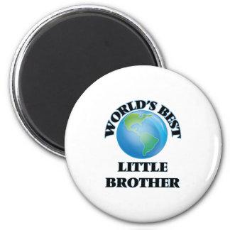Le meilleur petit frère du monde magnet rond 8 cm