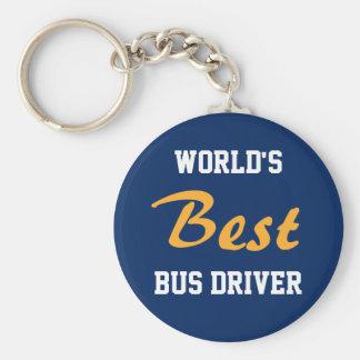 Le meilleur porte - clé de chauffeur du bus du porte-clé rond
