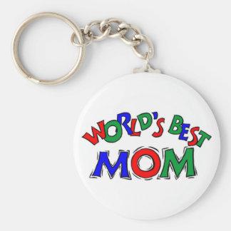 Le meilleur porte - clé de maman des mondes porte-clé rond