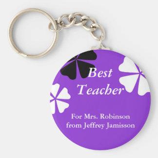 Le meilleur porte - clé de professeur (porte - porte-clé rond