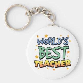 Le meilleur porte - clé du professeur du monde porte-clé rond