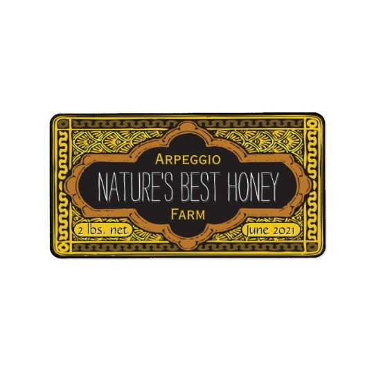 Le meilleur pot de miel de natures personnalisé étiquette d'adresse