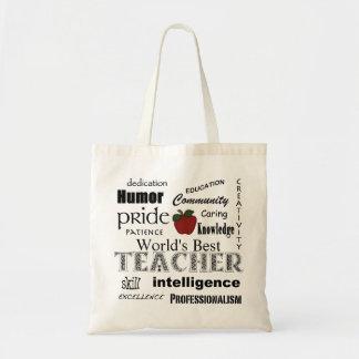 Le meilleur professeur Apple Fierté-Rouge du Sacs En Toile