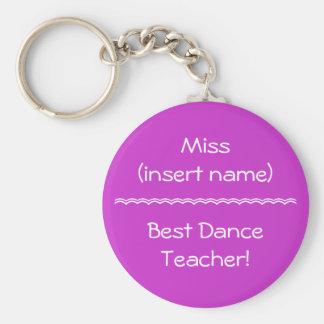 Le meilleur professeur de danse ! - porte - clé porte-clé rond