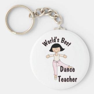 Le meilleur professeur de la danse du monde porte-clé rond