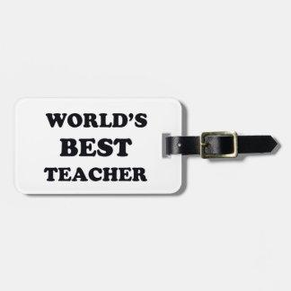 Le meilleur professeur du monde étiquette à bagage