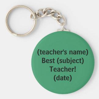 Le meilleur professeur ! - porte - clé porte-clé rond