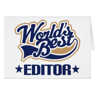 Le meilleur rédacteur des mondes carte de vœux