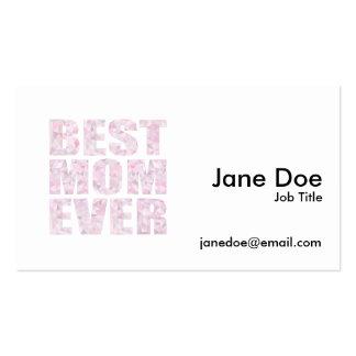 Le meilleur rose de maman jamais - basse poly carte de visite standard
