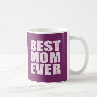 Le meilleur rose de maman jamais - basse poly mug blanc