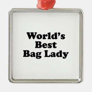 Le meilleur sac de dame du monde ornement carré argenté