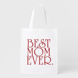Le meilleur sac fourre-tout au jour de mère de sacs d'épicerie réutilisables