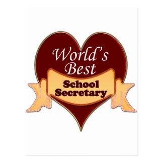 Le meilleur secrétaire de l'école du monde carte postale