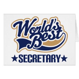 Le meilleur secrétaire des mondes carte de vœux