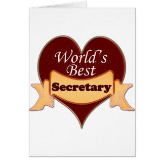 Le meilleur secrétaire du monde carte de vœux