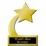 Le meilleur secrétaire du monde, trophée de récomp découpage en acrylique