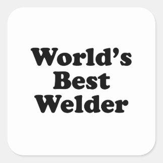 Le meilleur soudeur du monde sticker carré
