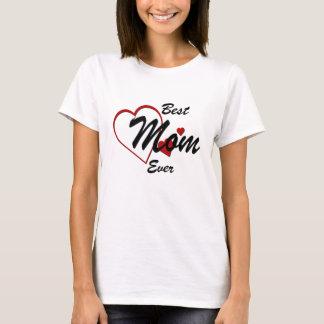 Le meilleur T-shirt de dames de coeurs de maman