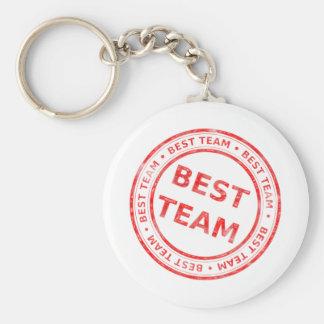 Le meilleur timbre d'équipe - prix, premier, porte-clé rond