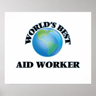 Le meilleur travailleur d'aide du monde posters