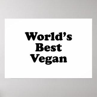 Le meilleur végétalien du monde posters