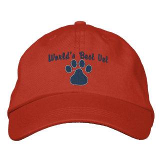Le meilleur vétérinaire du monde avec l'empreinte casquette brodée