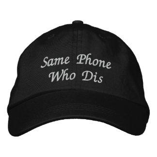 """Le """"même téléphone qui casquette de baseball"""