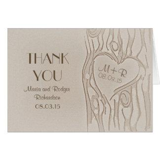 Le Merci a découpé les cartes de mariage rustiques