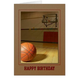 Le Merci d'anniversaire de basket-ball en Carte De Vœux