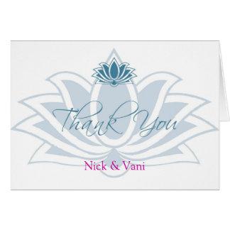Le Merci de Lotus a personnalisé la carte de note