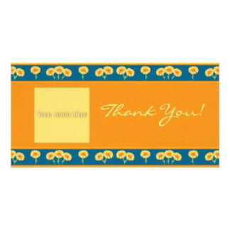 Le Merci fleurit 1 modèle de carte photo Photocartes Personnalisées
