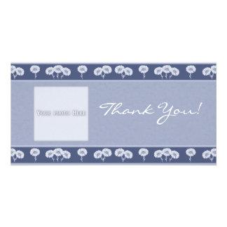 Le Merci fleurit le modèle de 3 cartes photos Photocarte Personnalisée