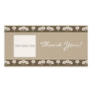 Le Merci fleurit le modèle de 7 cartes photos Photocarte Personnalisée