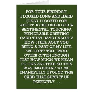 Le message sentimental final d'anniversaire carte de vœux
