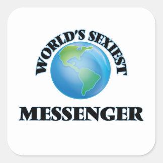 Le messager le plus sexy du monde sticker carré