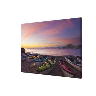 Le Mexique, Baja, mer de Cortez. Kayaks de mer et Toiles
