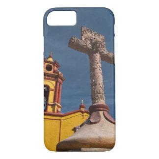Le Mexique, Bernal. Vue d'Iglesia De San Sebastian Coque iPhone 7