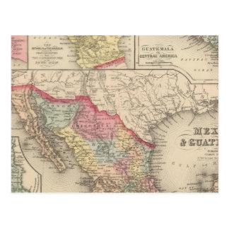 Le Mexique et le Guatemala 4 Carte Postale
